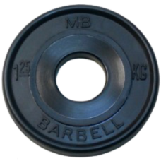 MB-PltBE-1,25 Диск BARBELL Евро-классик 1,25 кг